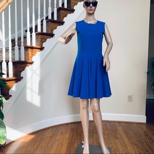 DVF cobalt blue fit flare sleeveless dress, 6